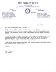 thankyou Rotary Club of Plainville