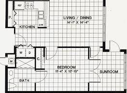 Modern 2 Bedroom Apartment Floor Plans One Bedroom Apartments Floor Plans Fascinating 4 Typical 1 Br