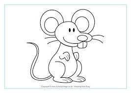 Small Picture Mouse Colouring Page