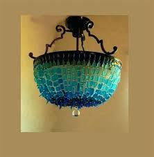 sea glass pendant light outstanding sea glass pendant lights chandelier coastal decor beach ceiling light pendants sea glass pendant