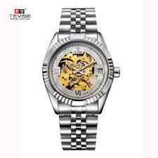 best running watch for men promotion shop for promotional best 2016 new fashion men male tevise brand mechanical watch steel automatic stylish classic skeleton steampunk wristwatch best gift