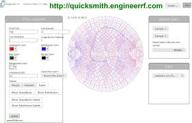 Quicksmith Online Interactive Smith Chart Snp Data Plotter