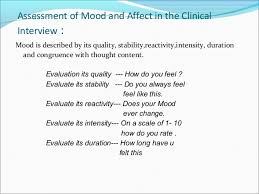 9. Assessment of Mood and Affect ...