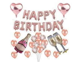 Birthday Party Decorations Rose Gold Party Supplies Decorations Rose Gold Party Decorations Balloons Happy Birthday Balloon