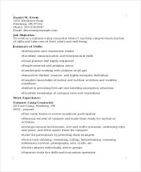 Counseling Resume Fascinating 44 Camp Counselor Resume Templates PDF DOC Free Premium Templates