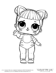 Color Me Lol Baby Cat Coloring Page