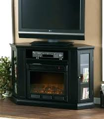 electric fireplace corner tv stand black with big lots