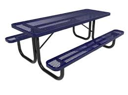 rhino 8 foot thermoplastic steel picnic table