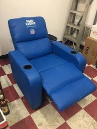bud light nfl licensed blue recliner for in bloomington in offerup
