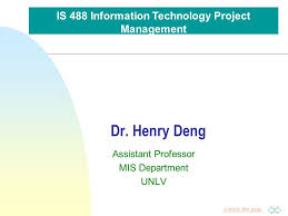 Jump To First Page Dr Henry Deng Assistant Professor Mis Department