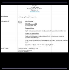 sample makeup artist resume resume maker resume software sample makeup artist resume
