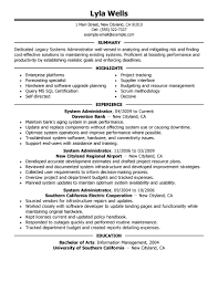 Linux Engineer Resume Sample. cover letter administration resume example  office administration