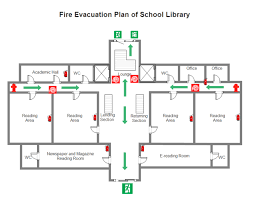 Evacuation Plan Sample Library Fire Evacuation Plan Free Library Fire Evacuation