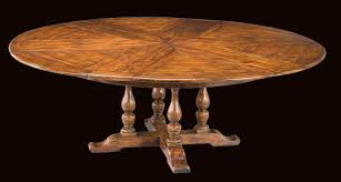 solid walnut round to round expandable dining table