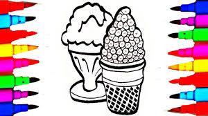 Learn Art L How To Draw And Color L M N M S Ice Cream Coloring