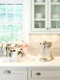 White Cabinets With Marble Countertops  Gray Tiles Plans   P12