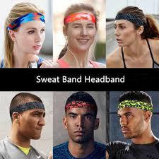 <b>1PC Cycling</b> Sweatband Yoga Sports Sweat Headband Anti Slip ...