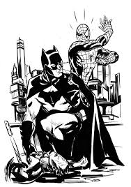 Free printable batman coloring pages for kids. Spiderman Batman Team Up By Stokesbook On Deviantart