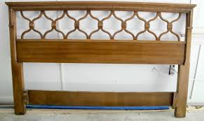 classic wood headboard idea with artistic design
