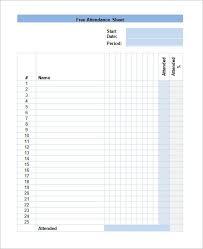 Attendance Sign In Sheet Template Business