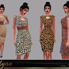 Dress/ Vestido Leona | Sims, Sims 4, The sims