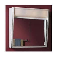 bathroom medicine cabinets. 24 Inch Lighted Sliding Mirror Medicine Bathroom Cabinet 3 Lights New Cabinets