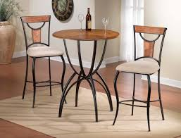modern wood and metal pub table combined white velvet cushio