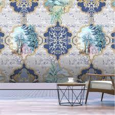 Horizontal Wallpaper Designs Amazon Com Pbldb Horizontal Hand Painted Palace Pattern