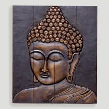 buddha wall art metal