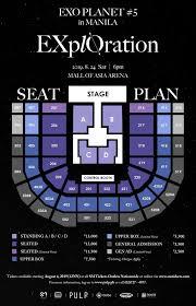 Moa Seating Chart