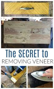 removing veneer from wood furniture