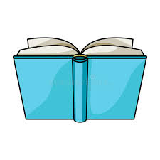blue opened book icon in cartoon style isolated on white background books symbol