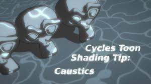 cycles toon shading tip caustics tutorial