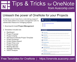 Onenote 2010 Project Management Templates Onenote Tips Tricks Templates For Onenote By Auscomp Com