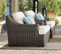 huntington all weather wicker slope arm
