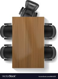 desk chair top view. Plain Top Office Chair And Table Top View Vector Image Intended Desk Chair Top View F