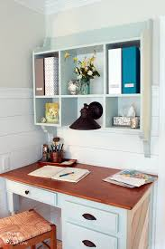 fill her up with a few bo some flowers and you have one organized wall mounted hutch