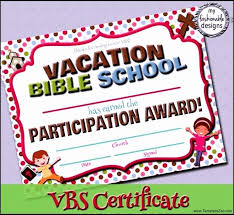 Vbs Certificate Template 30 Vacation Bible School Certificate Templates Pryncepality