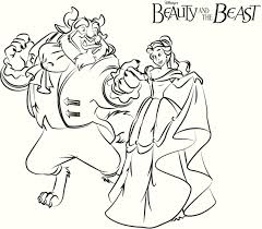 Free Beauty And The Beast Coloring Pages With Beauty And Beauty And