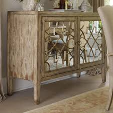 ... Hooker Furniture Sanctuary Two Door Mirrored Console Mirrored Sideboard  Cabinet ...