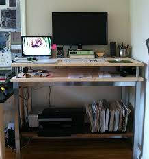 stand up office desk ikea. Today I Join The Ranks Of Those Working Standing Up. Inspired By This Ikea Hack Desk, Fashioned A Similar One. (Specifications Below. Stand Up Office Desk