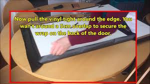 Vinyl Kitchen Cabinet Doors How To Wrap A Kitchen Cabinet Door Diy Vinyl Wrapping Tutorial
