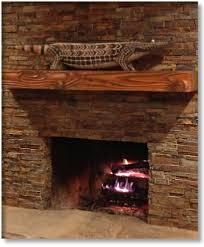 douglas fir wooden mantel vintage