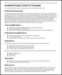 Pastry Chef Resume Newest Assistant Cv Sample Create This Cv