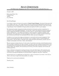 Project Management Cover Letters Best Project Management Cover
