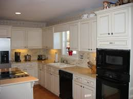 great painted kitchen cabinets white spray paint wood kitchen island stainless steel double door refrigerator beautiful