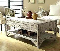 distressed square coffee table lodge recycled