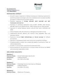 Net Developer Resume Net Amazing Sample Resume For Experienced Net Stunning Net Developer Resume