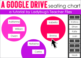 Seating Chart Maker For Teachers A Google Drive Seating Chart Ladybugs Teacher Files