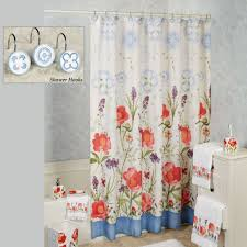 merry may watercolor floral shower curtain